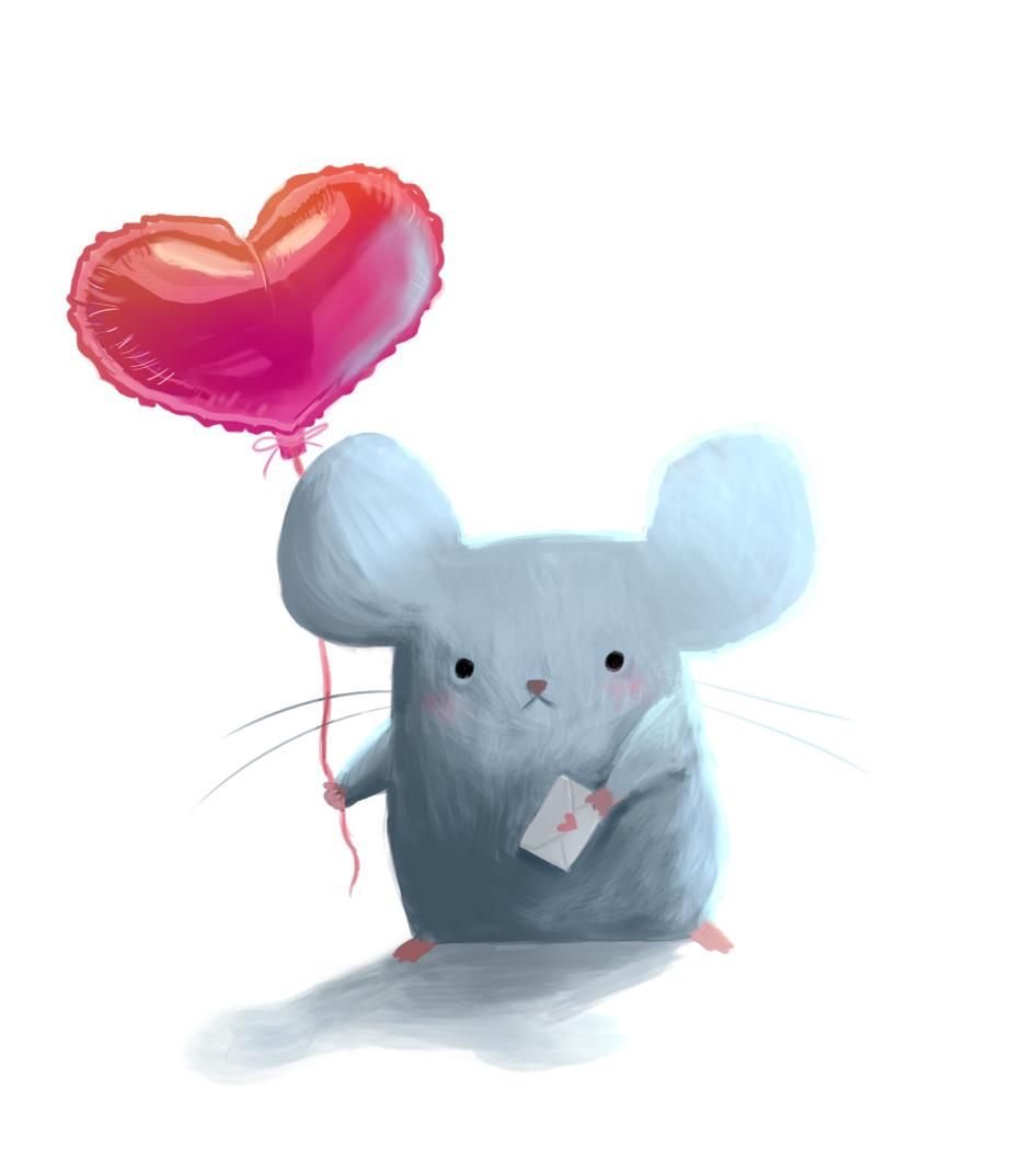 Люблю тебя мышка картинки
