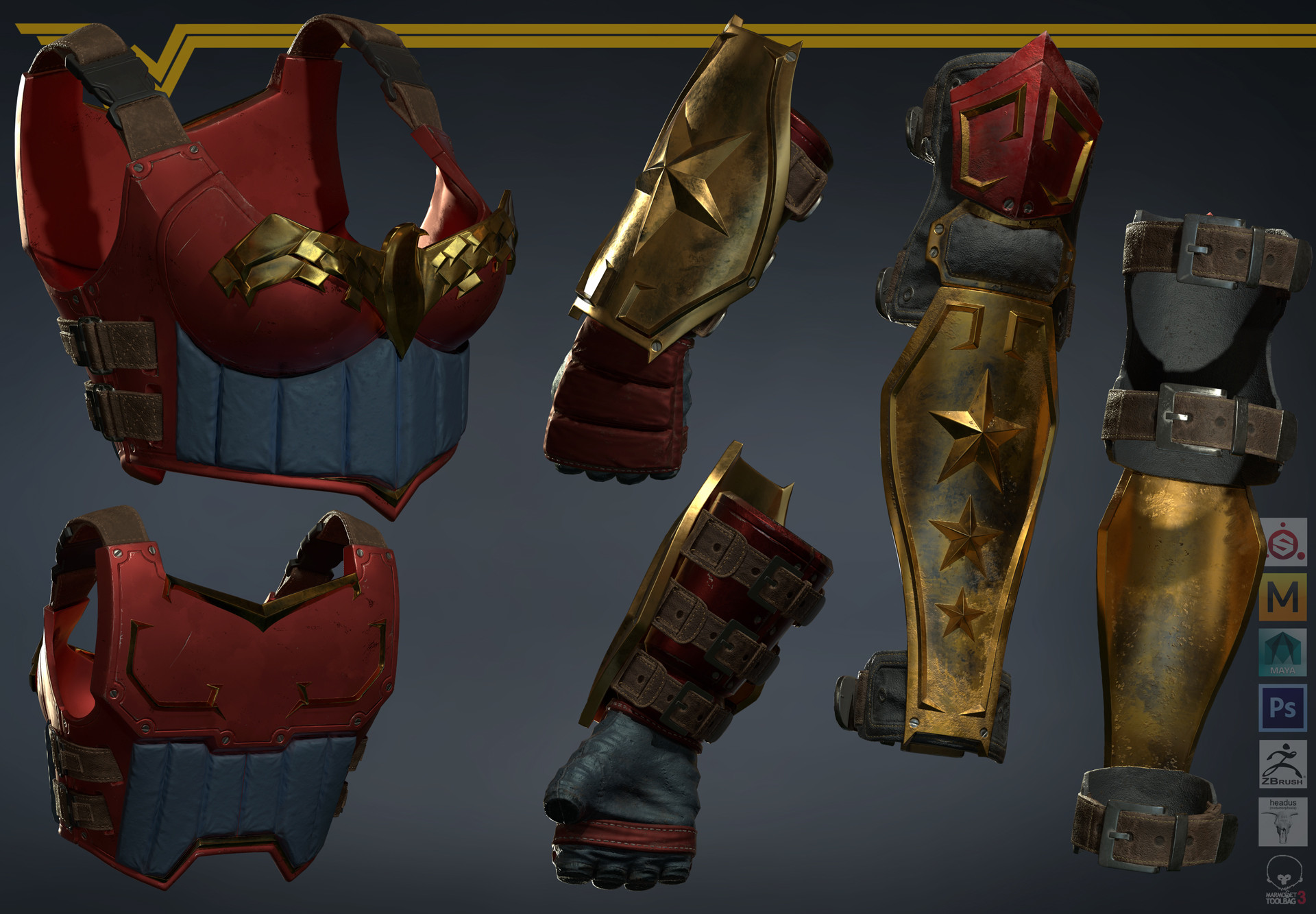 Satoshi arakawa chest armor