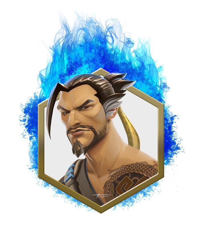 Hanzo in Flames Fanart