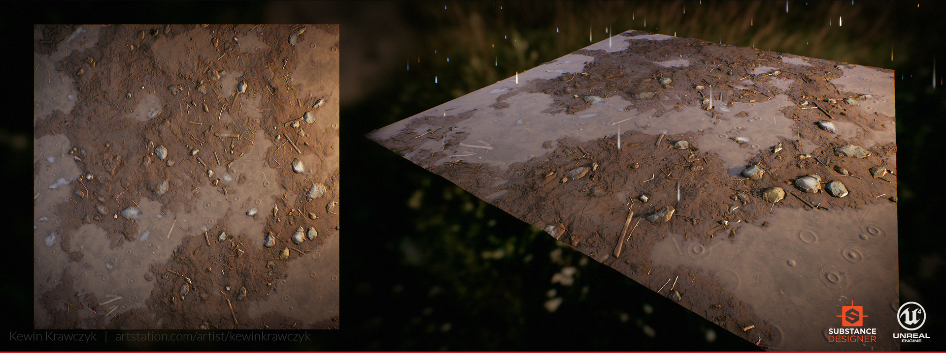 ArtStation - PBR Procedural Mud Ground , Kewin Krawczyk