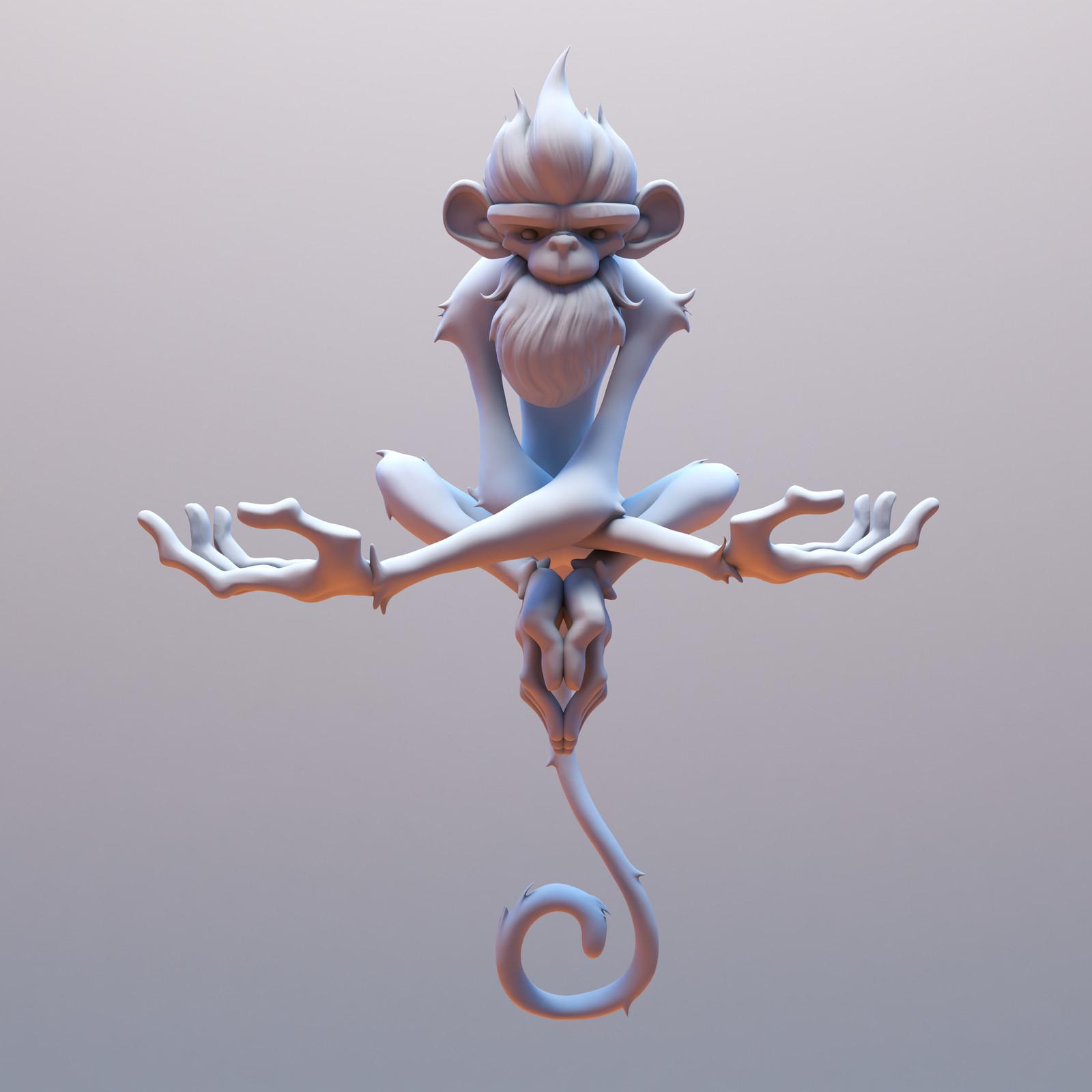 Frostfire Monkey: WIP