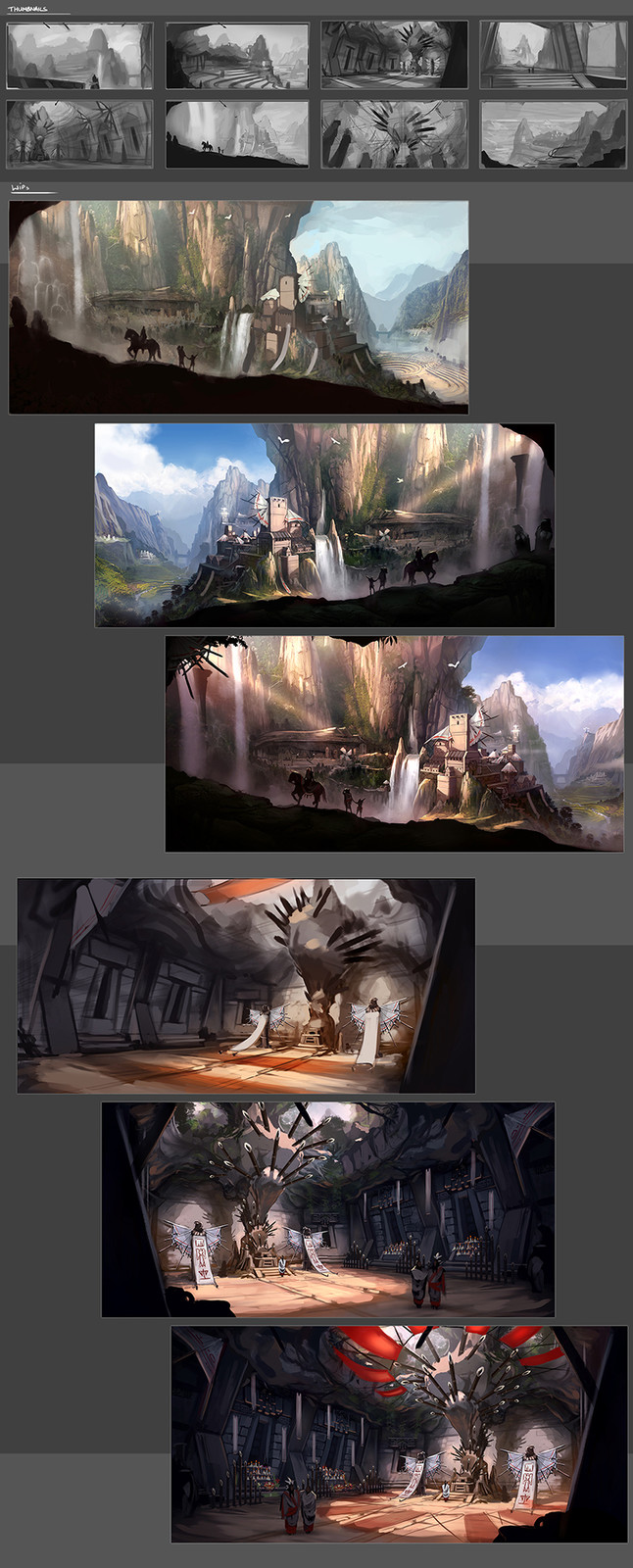 Thumbnails and WIPs