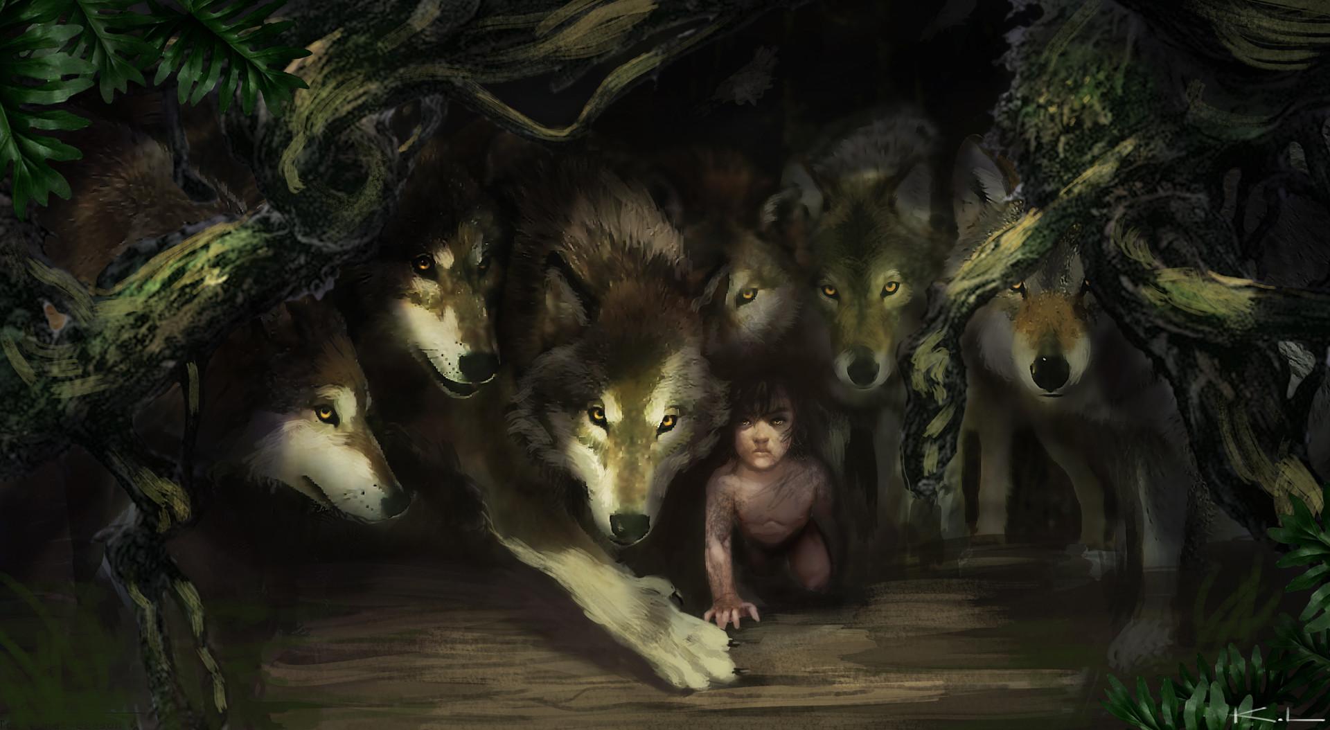 Karl lindberg wolves and mowgli