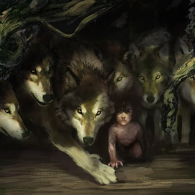 Karl lindberg wolves and mowgli