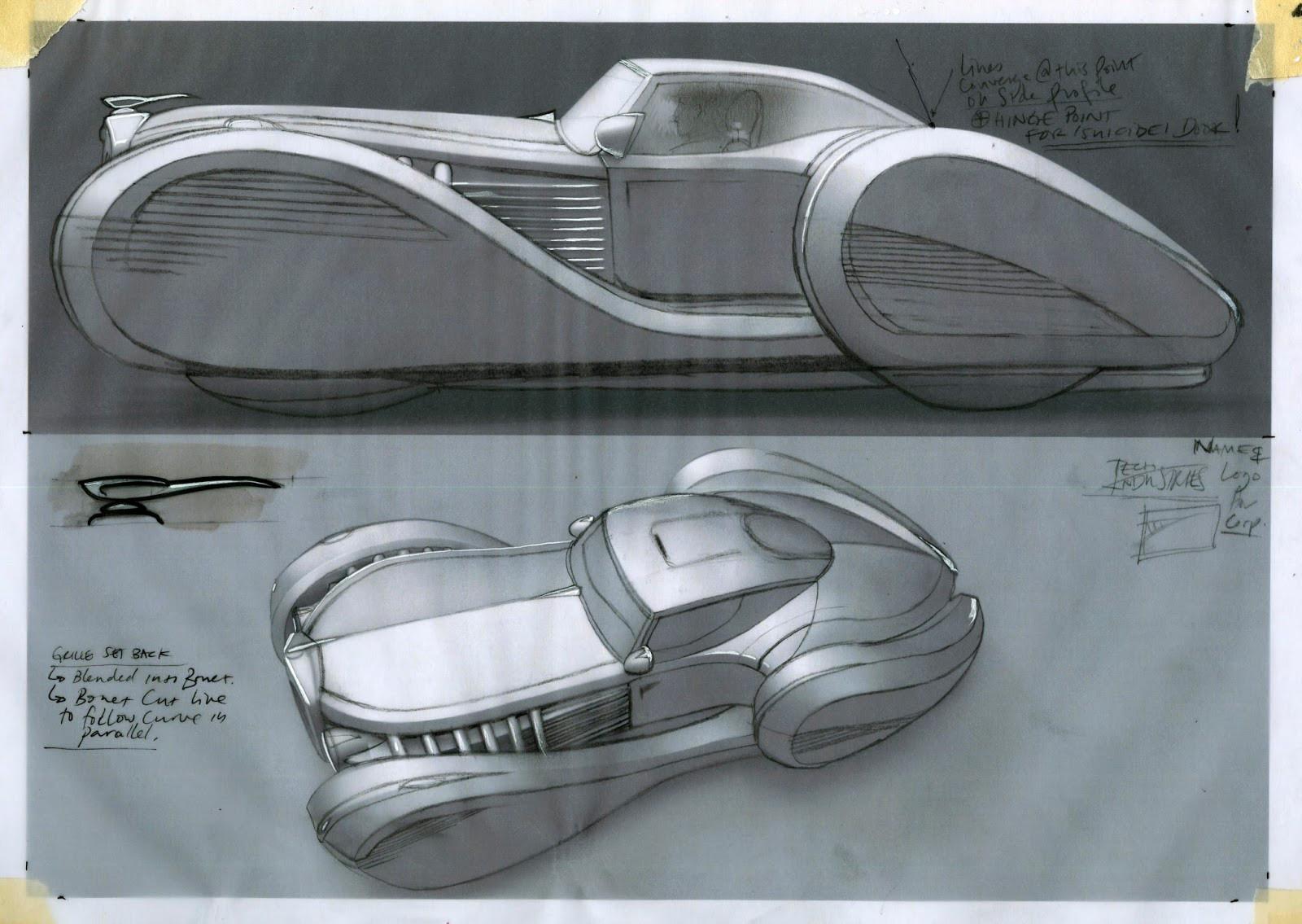 Traditional sketch over to explore detail design development