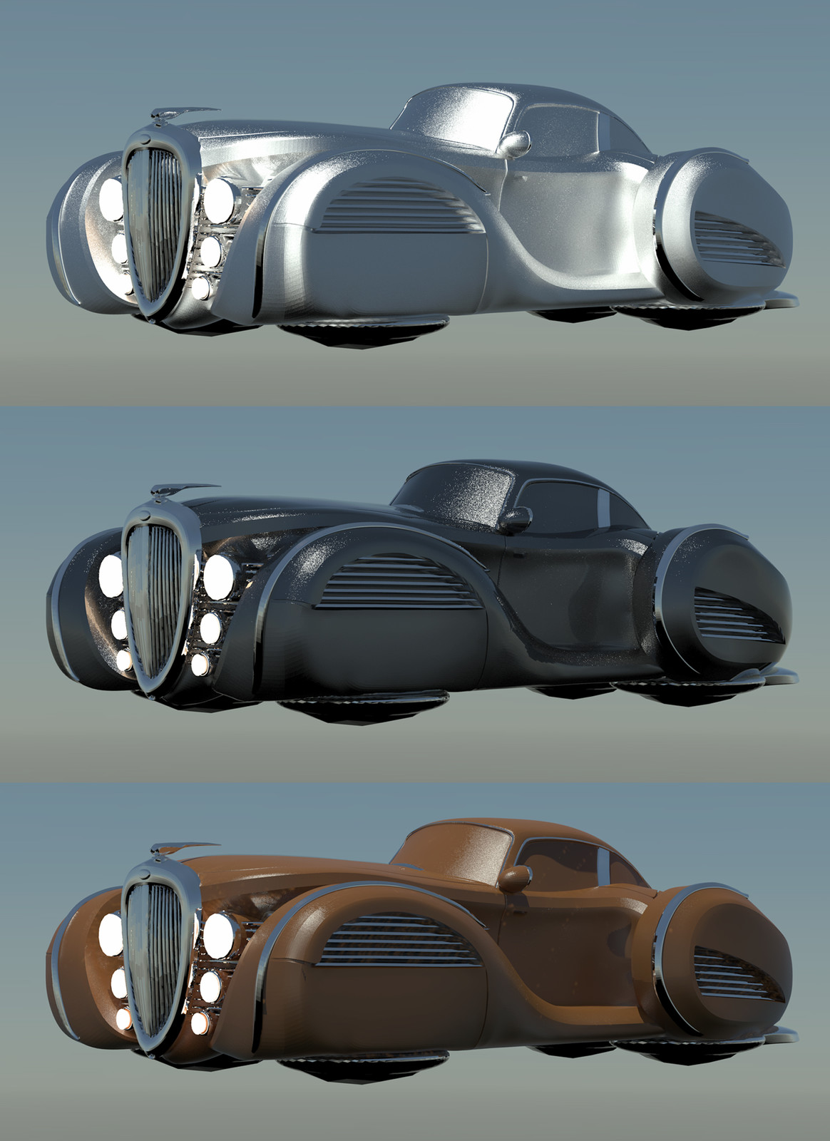 3 render passes for concept paint over