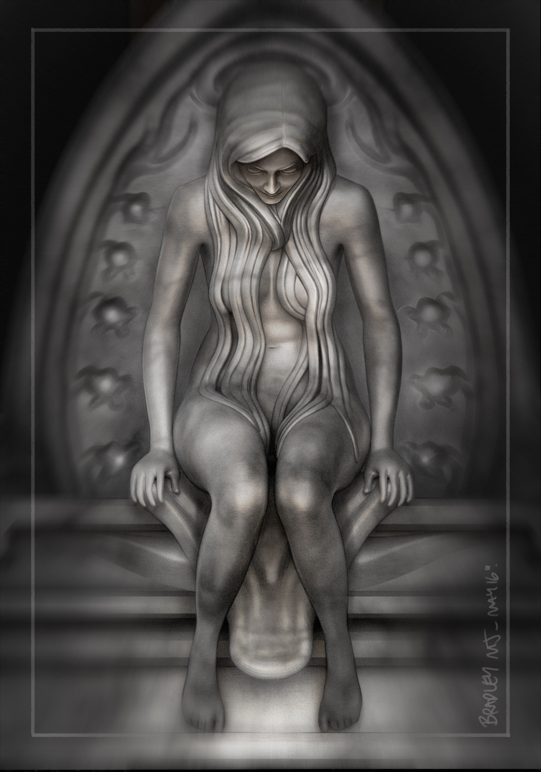 Guardian Angel Architectural Feature_Final Composite render / paint over