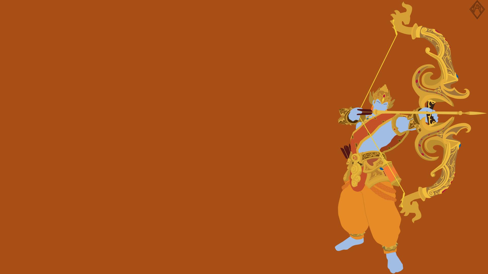 Smite | Rama Minimalist Wallpaper