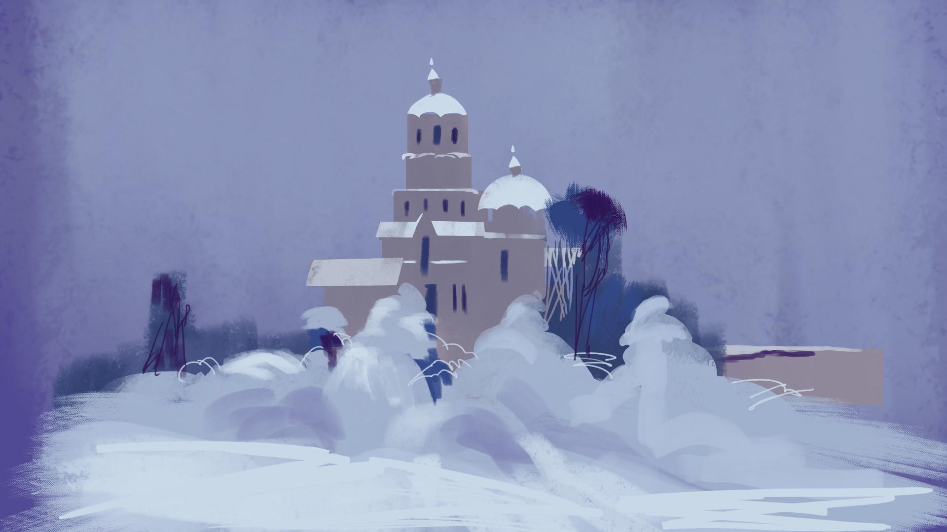 Harrison yinfaowei stepan kolesnikov church in snow