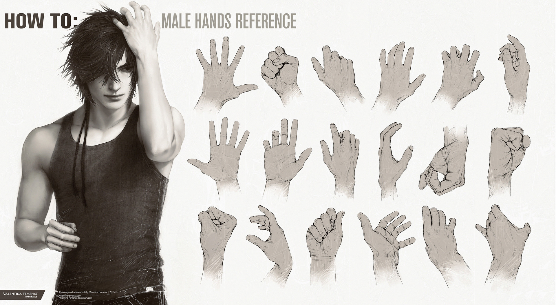 Valentina remenar how to male hands reference by valentina remenar