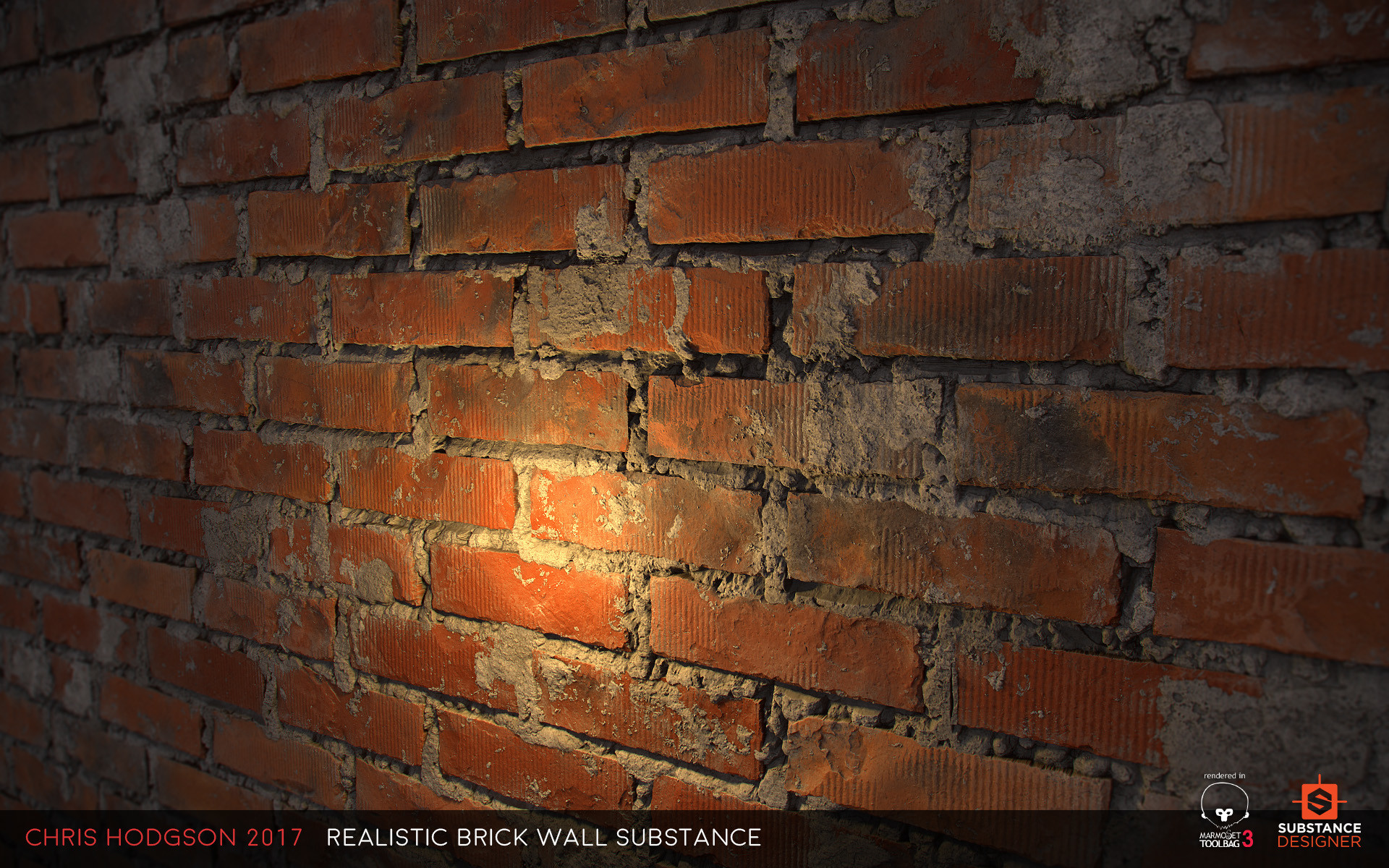 chris hodgson realistic brick wall substance designer. Black Bedroom Furniture Sets. Home Design Ideas