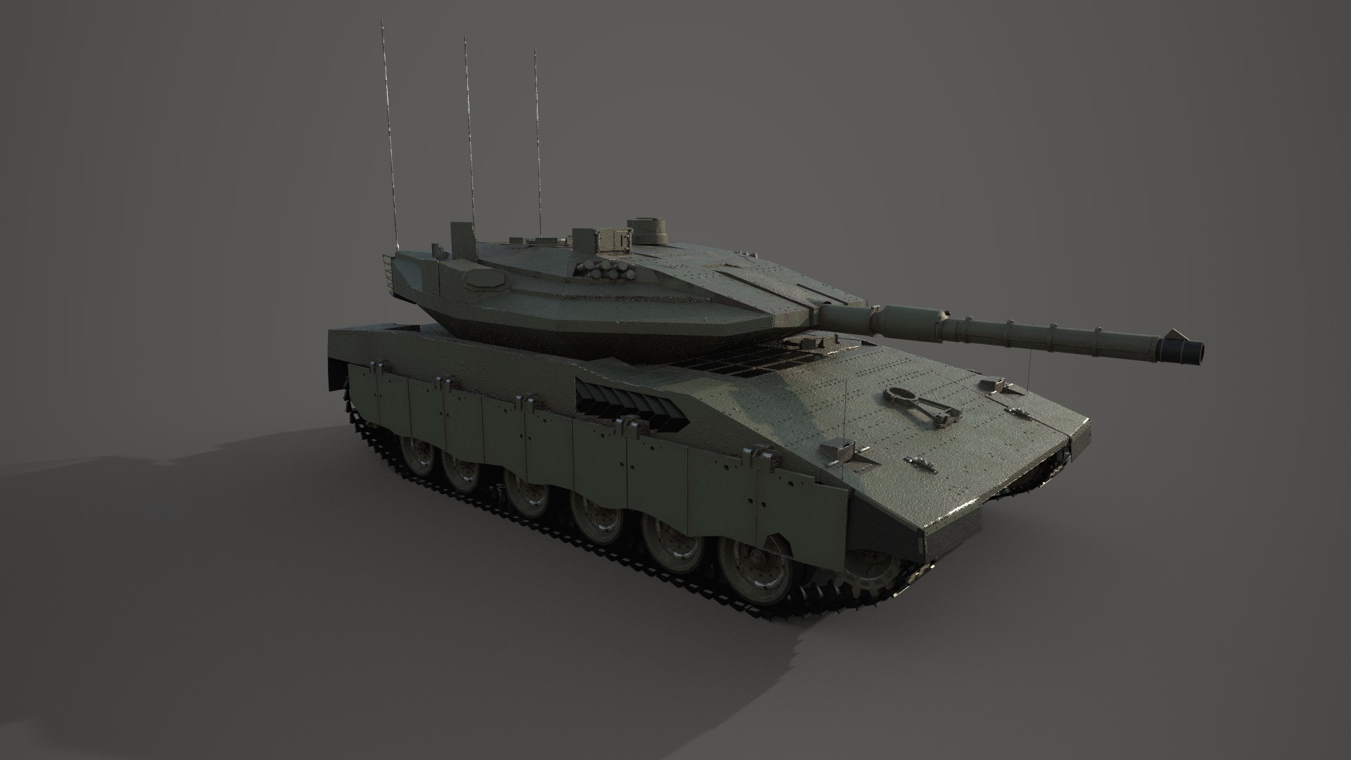 Merkava Mk IV - Bringing this tank up to date. Test render with temporary texture Iray in SP. Still needs finer detail and completion of the rear,