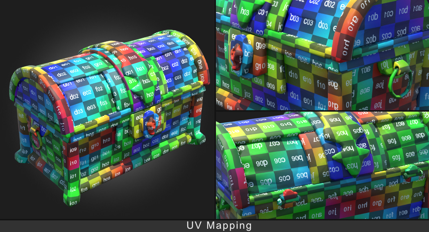 Modo UV Unwrapping of Low Poly mesh