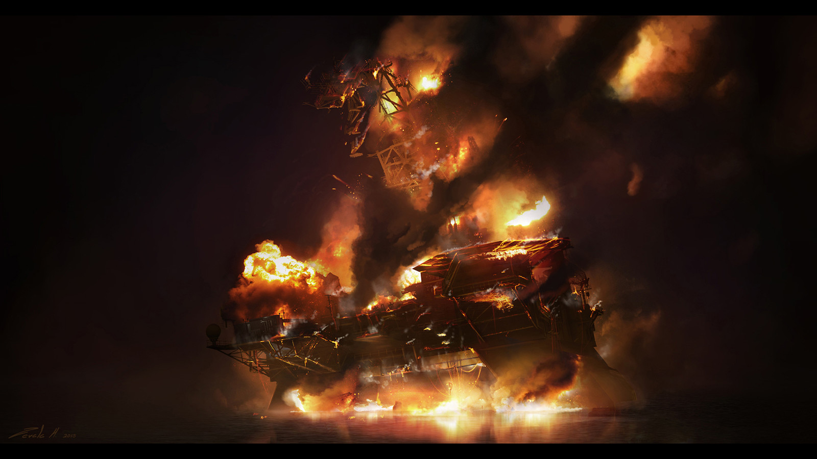 Deepwater Horizon Inferno early sketch