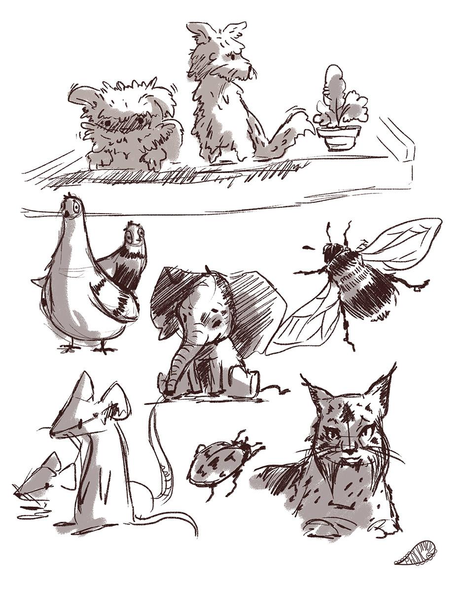 Vanessa morales moar animal doodles