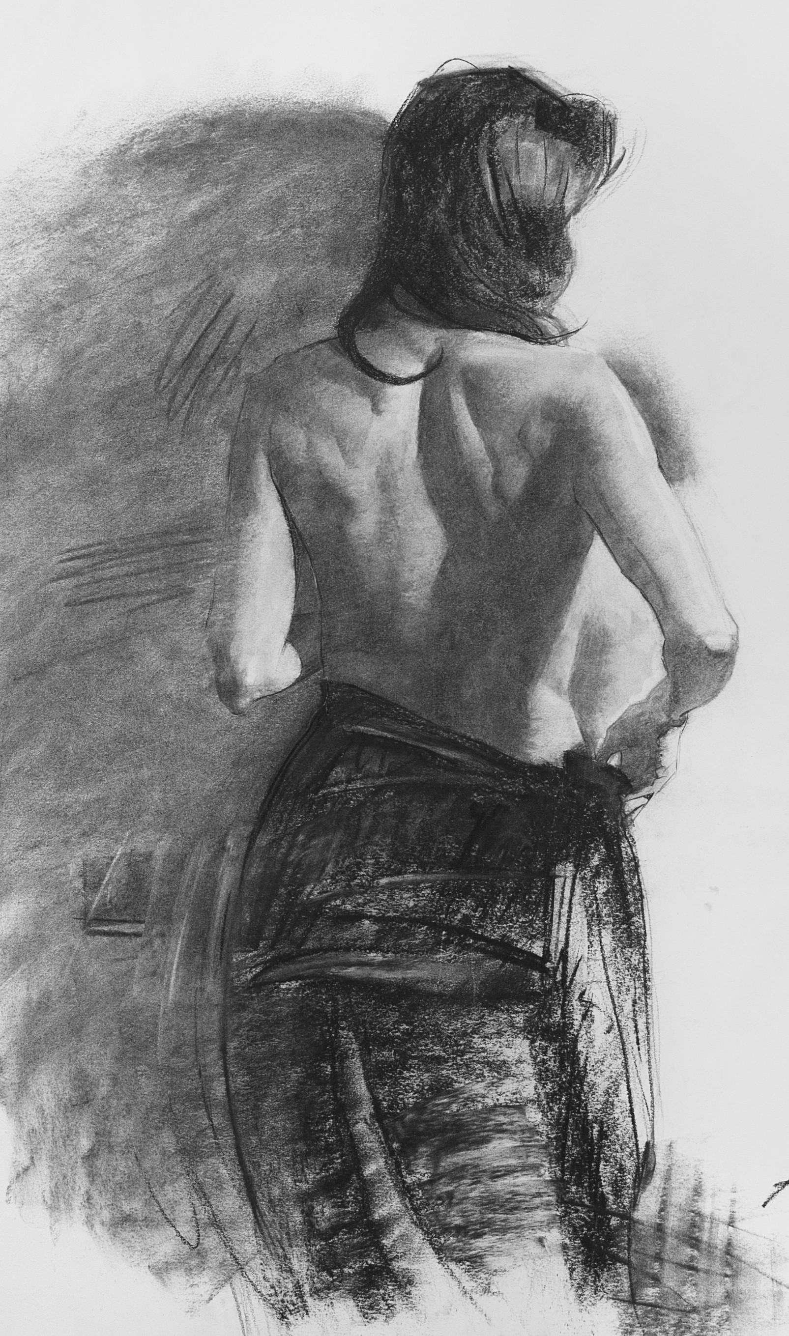 charcoal 18 x 24 inches