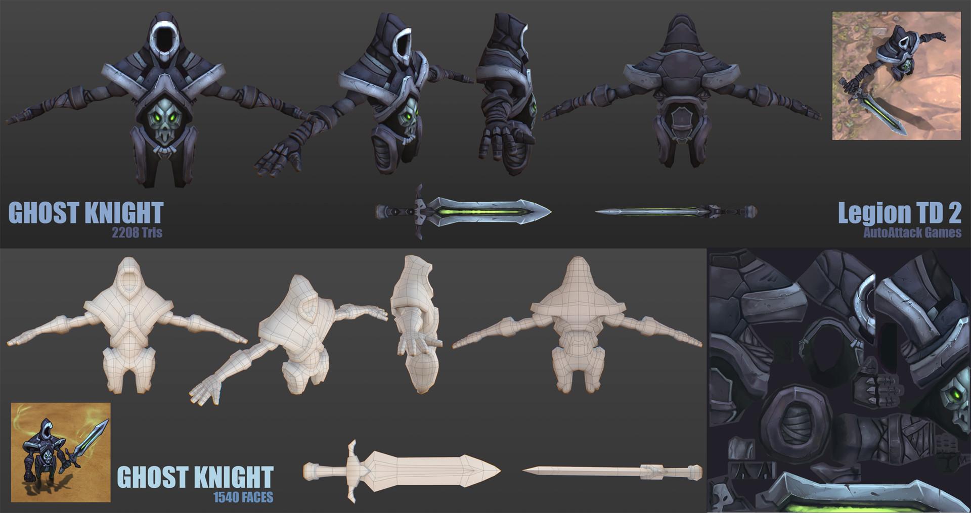 ArtStation - Ghost Knight - Legion TD 2, Tarik Diaz