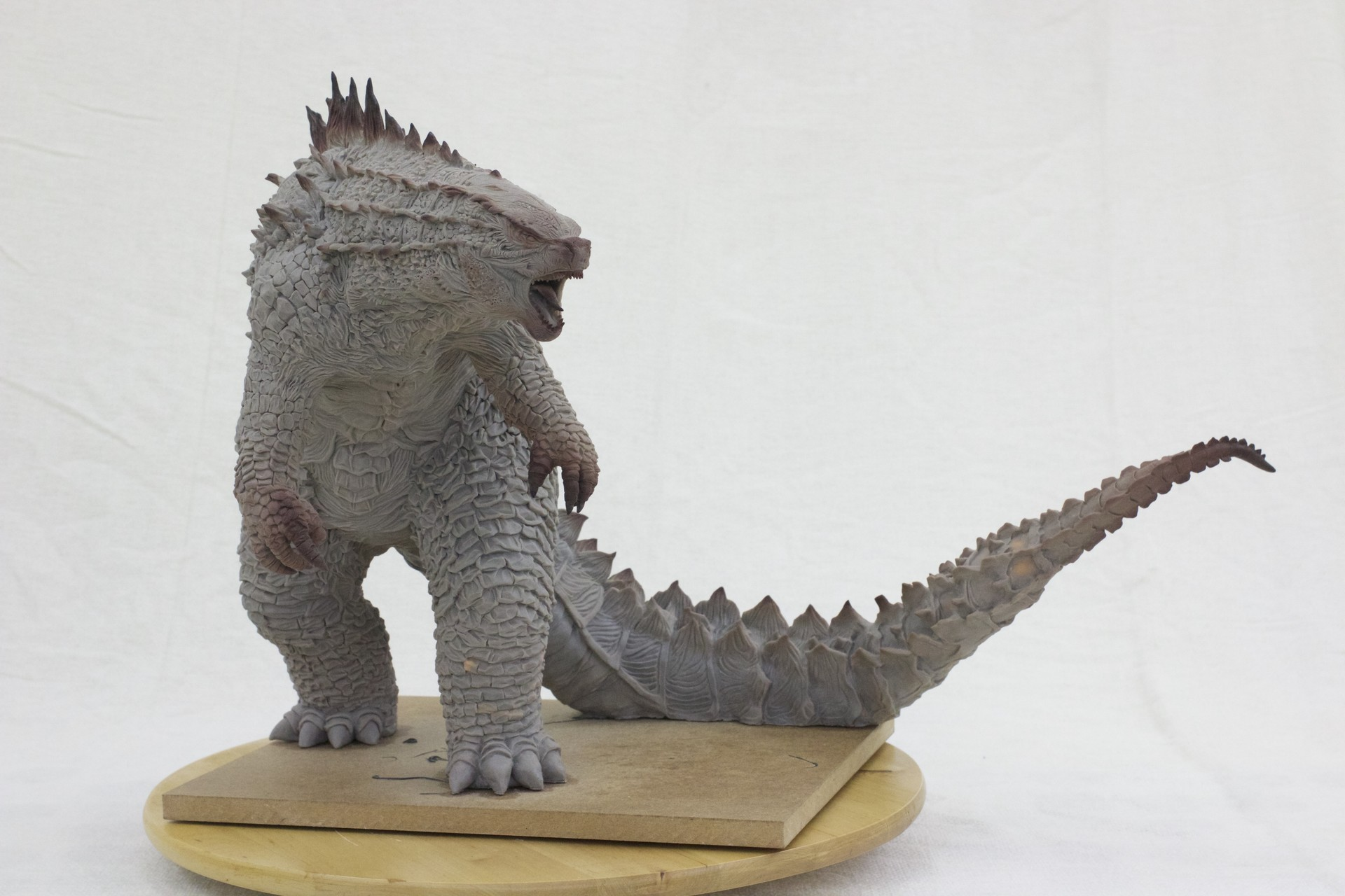 Artstation Godzilla Sculpture Sean Chong