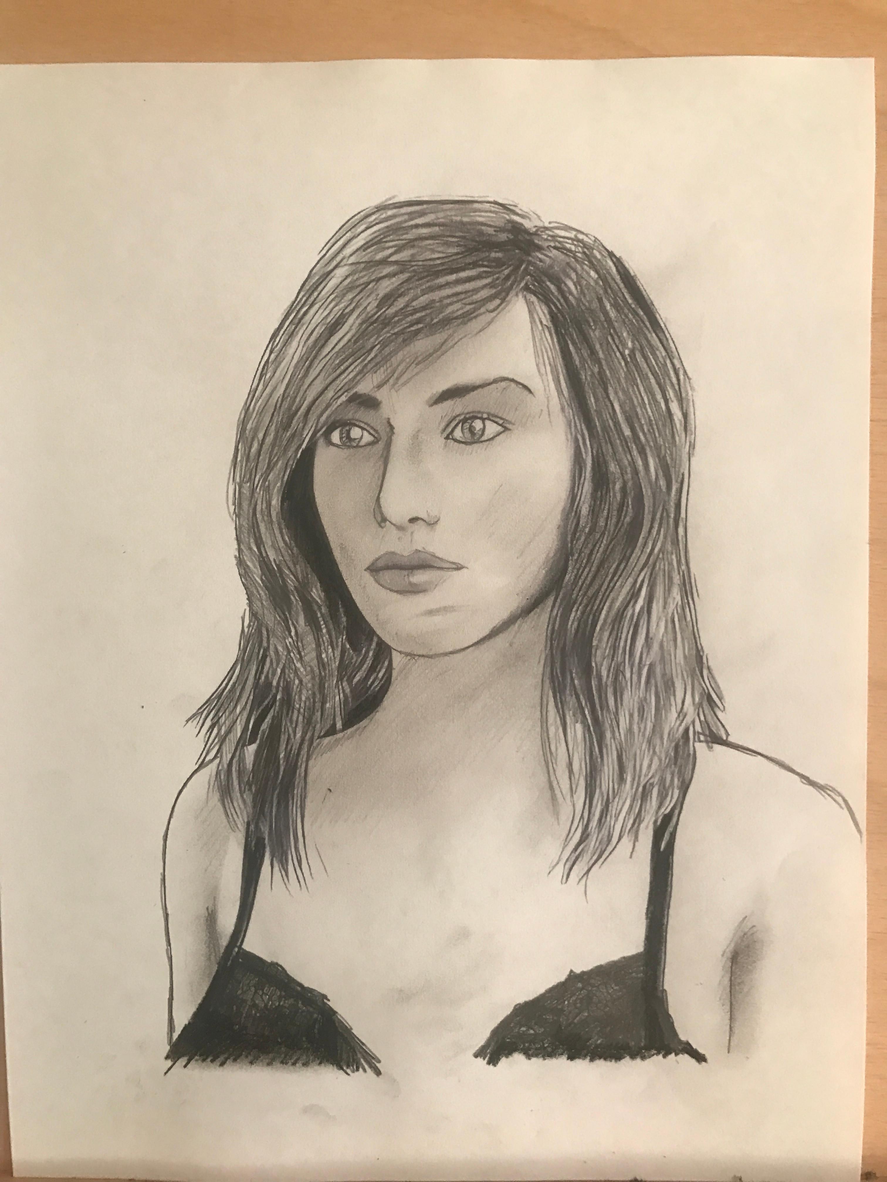 Portrait Study - Initial sketch
