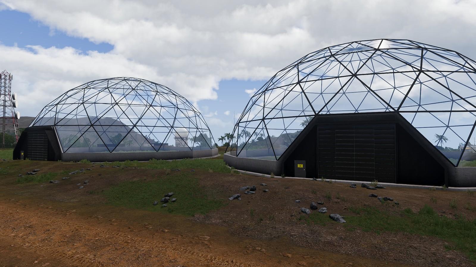 Glass Biohazard Research Domes