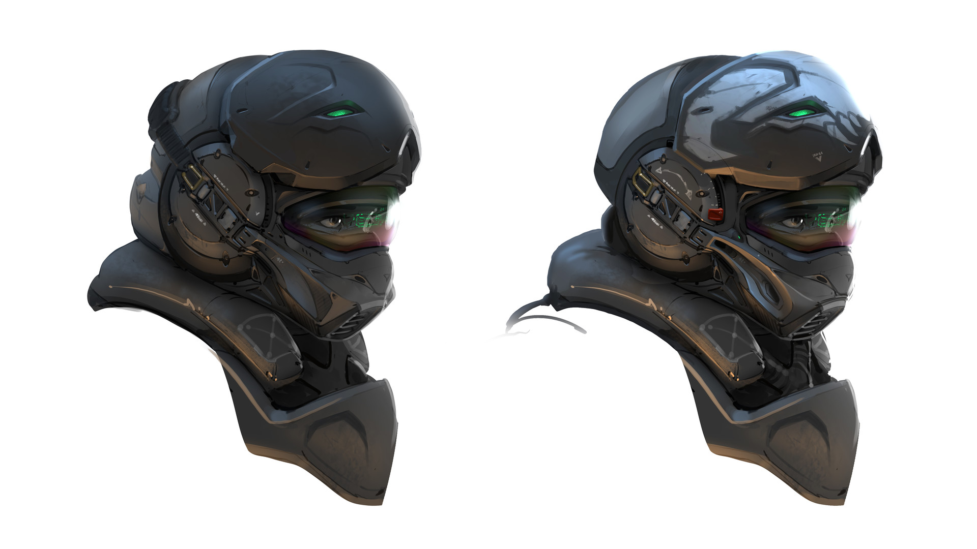 Samuel aaron whitehex marine helmet