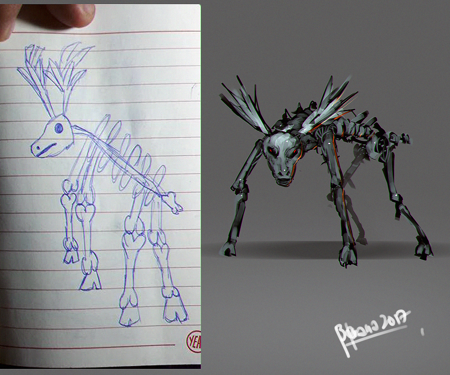 Benedick bana chuchay drawing recreate 02 lores