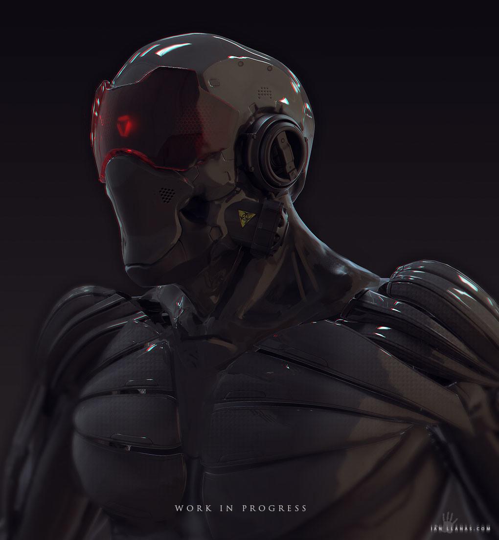 cyborg close up