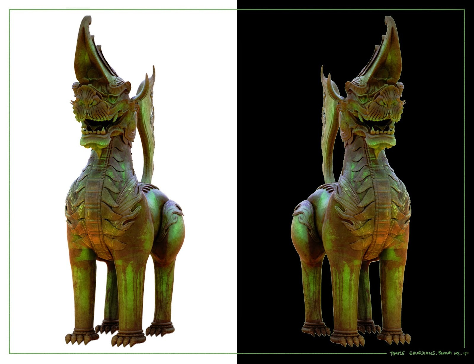 Temple Guardian_Z Brush Sculpt