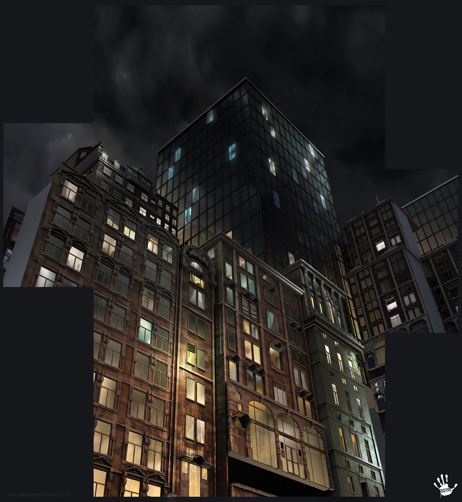 Matte painting for one of the locations.