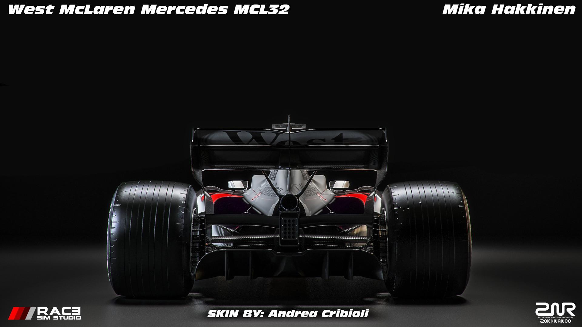Artstation West Mclaren Mercedes Mcl32 Mika Hakkinen Zoki