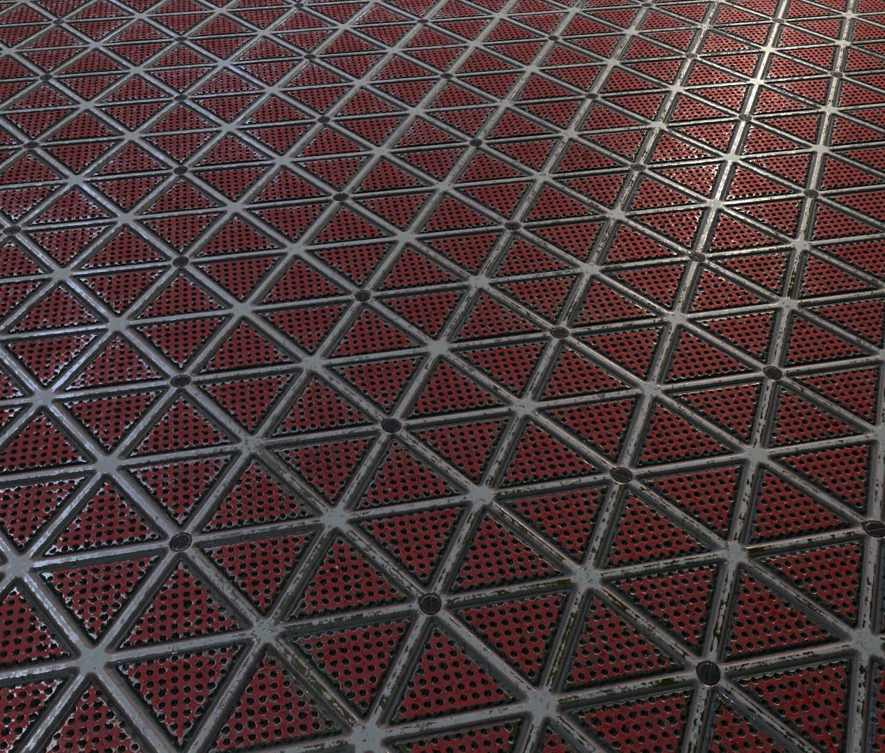 floor texture. Sci fi Floor texture rendered in Marmoset  Created Substance Designer ArtStation My Tobias Rintoul