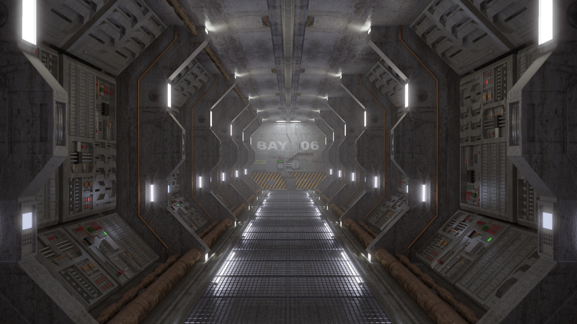 ArtStation - Spaceship Corridor, Thomas Simonet