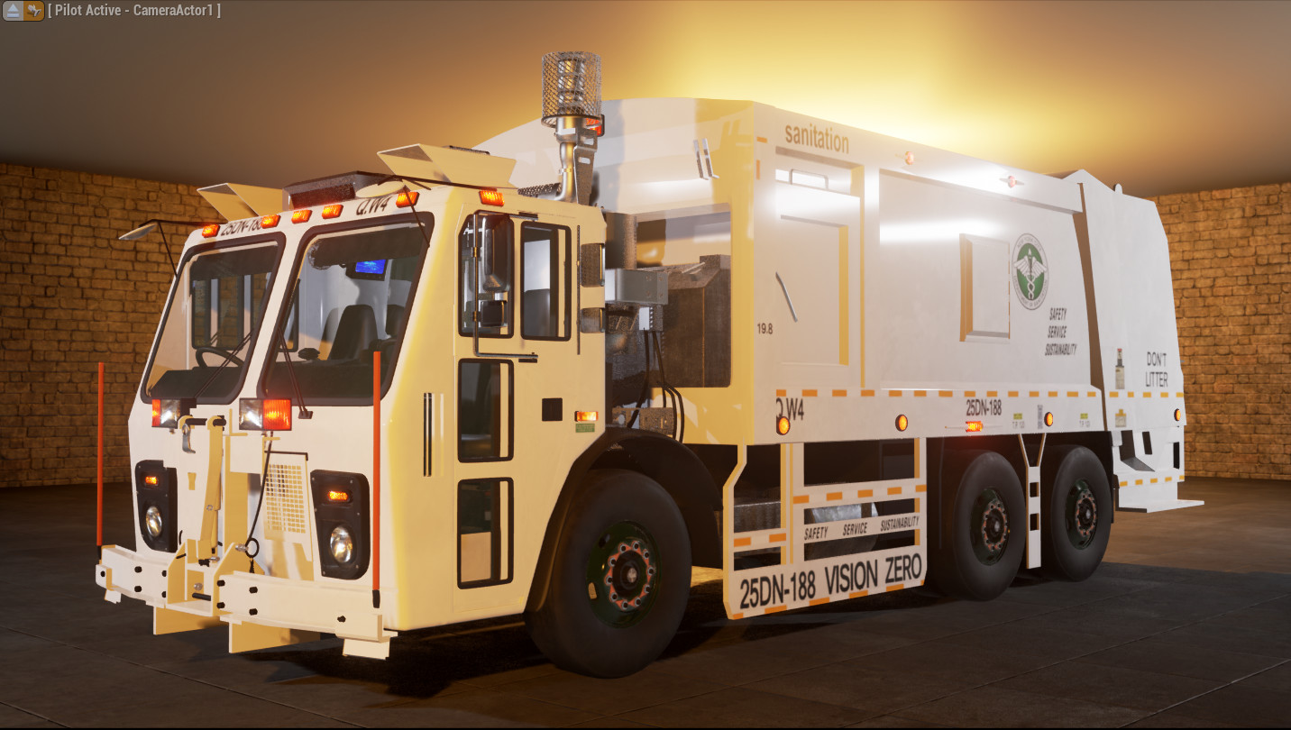 ArtStation - Garbage collection truck simulation - UE4