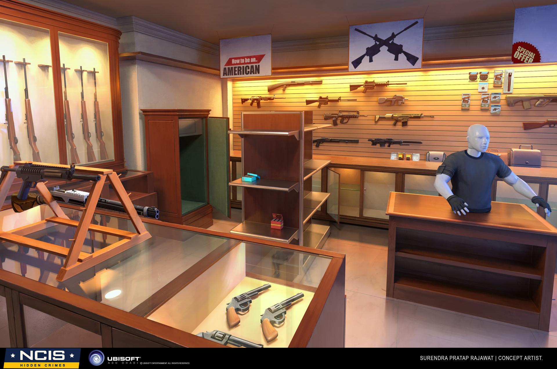 Surendra pratap singh rajawat gunshop concept