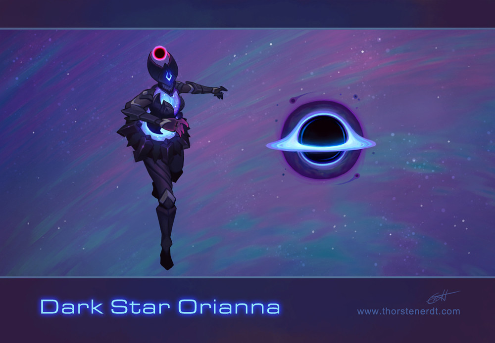 Artstation Lol Skin Concept Dark Star Orianna Thorsten Erdt