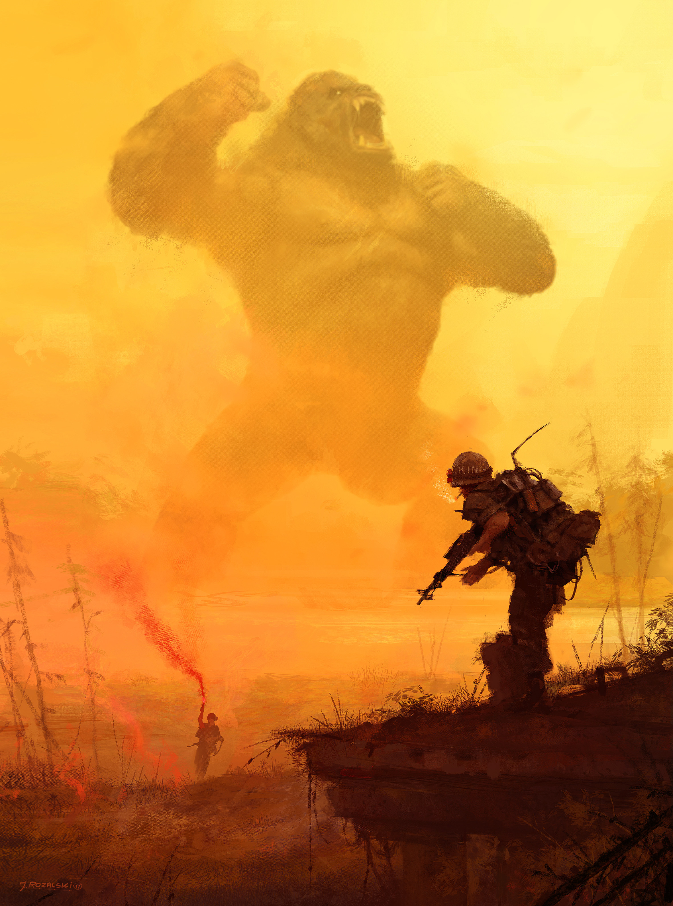 "I remember that for this ""Apocalypse Now"" illustration, I used old Kong action figure as a reference :] very cool experience."