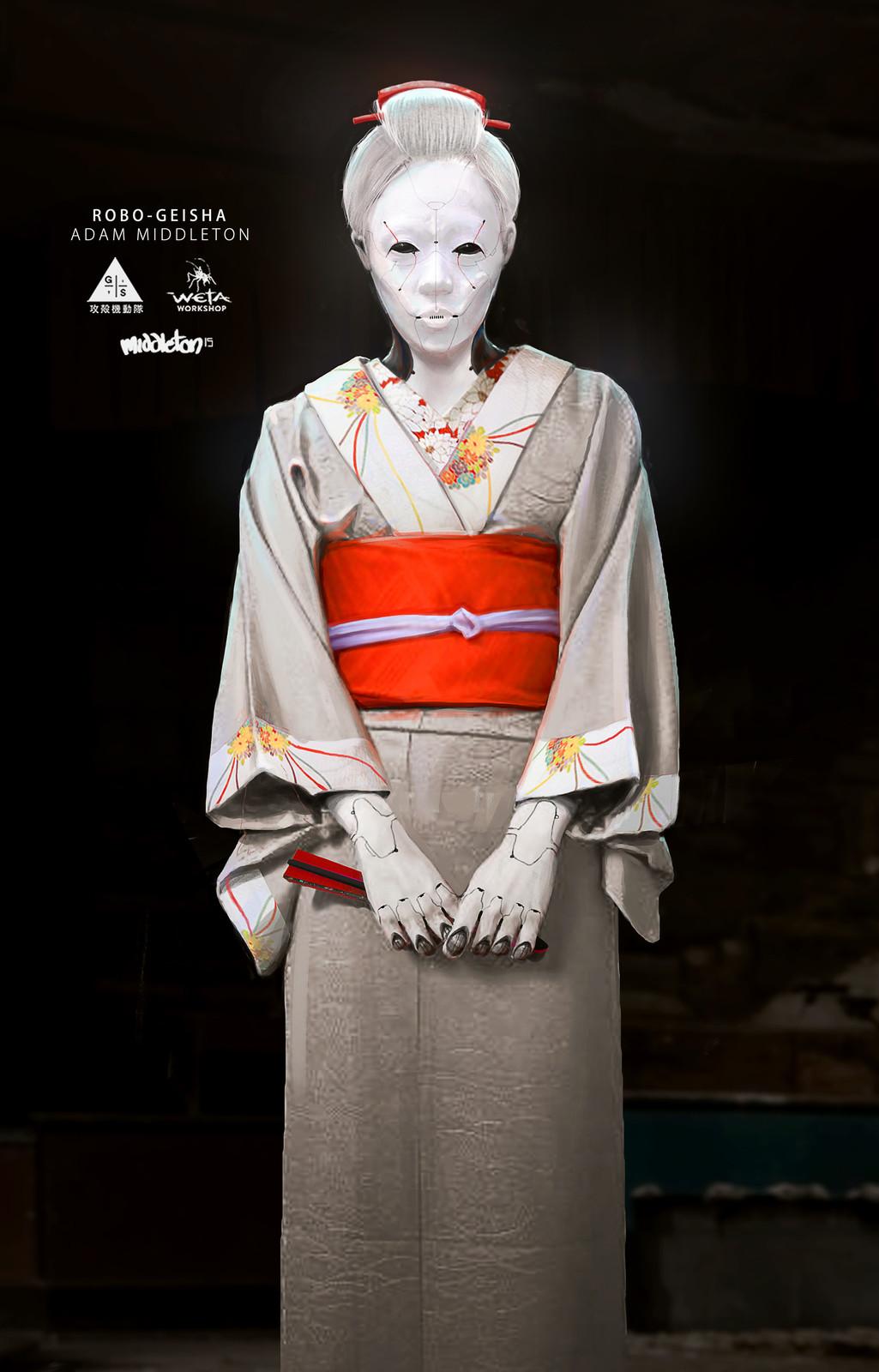 White Robed Geisha