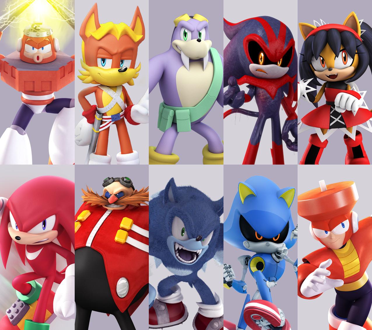 Artstation Sonic Megaman Comic Models 2013 2016 Rafa Knight