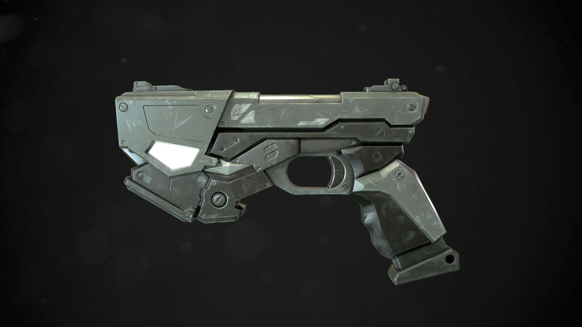 Joni Niemi Zaikoni Sci Fi Plasma Pistol Game Ready