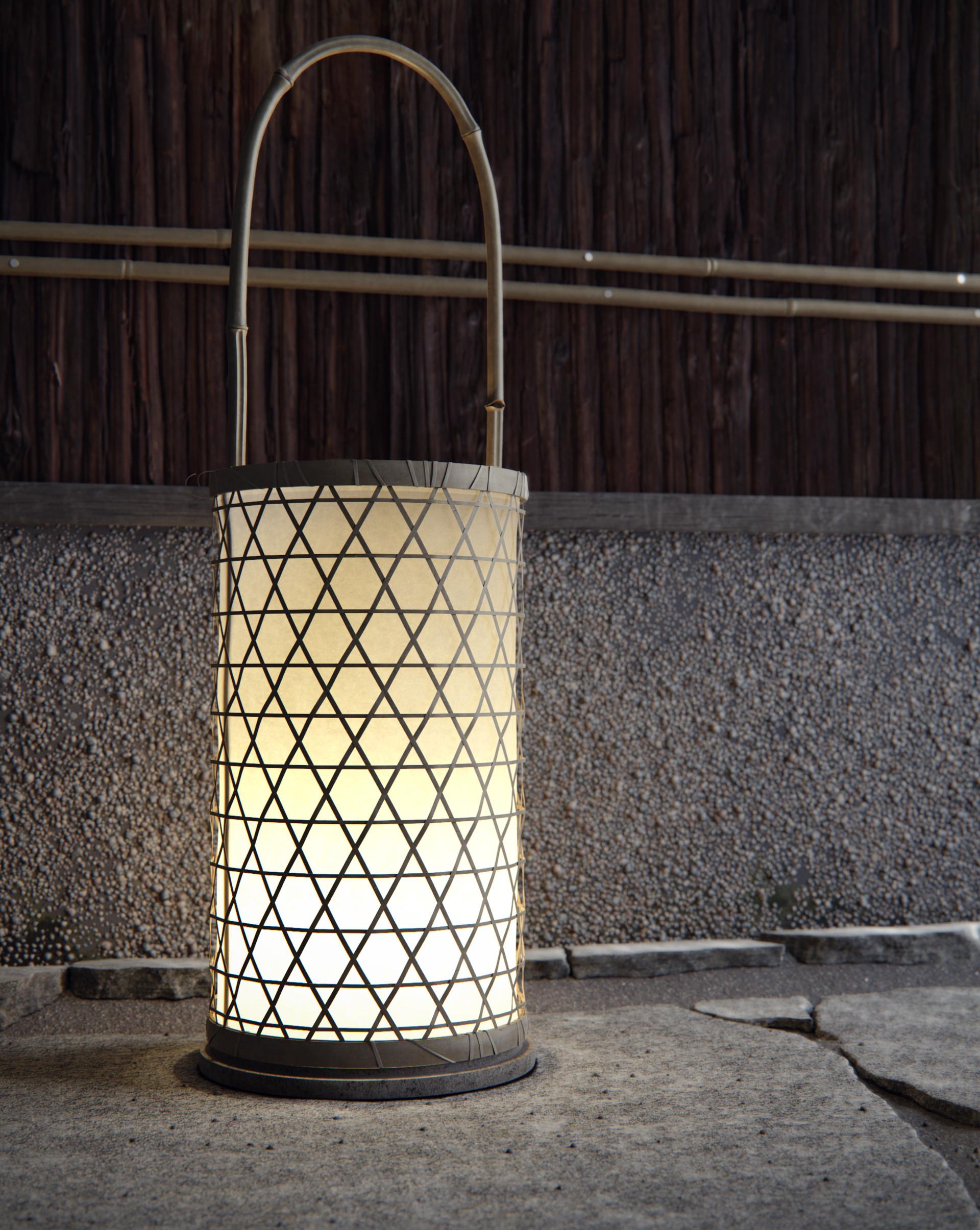 Artstation Japanese Lamp Floor Alexacos Threed