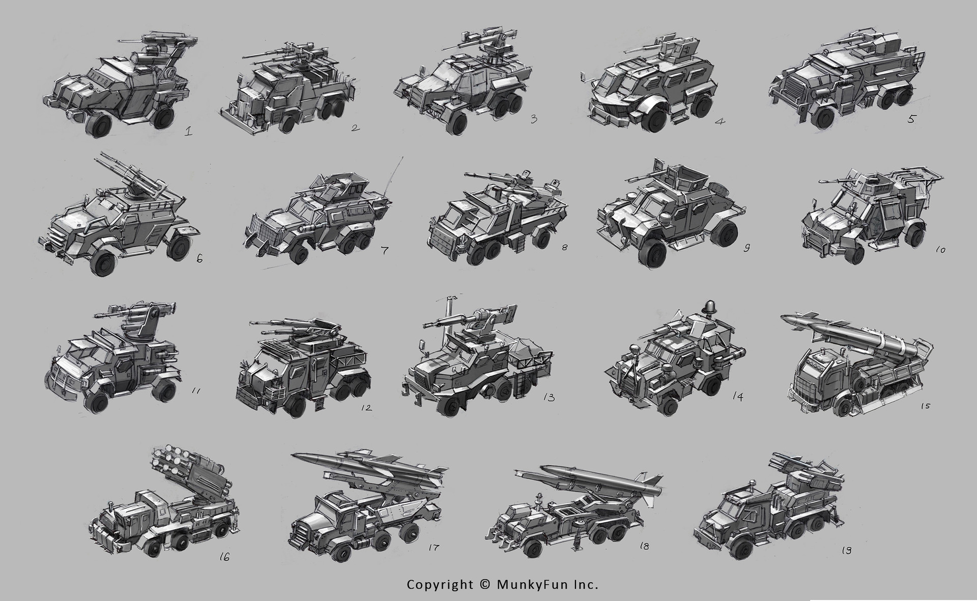 Jessica tung chi lee recon missile truck sketches 1