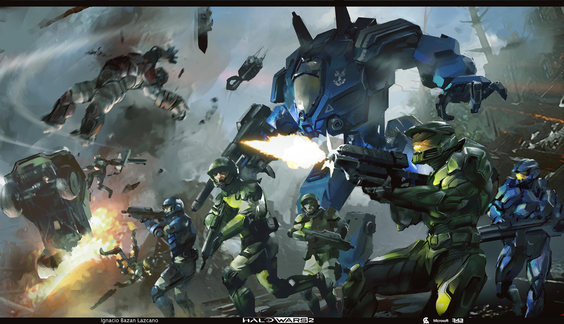 ArtStation - Halo Wars 2 concept art part 1, Ignacio Bazan ...