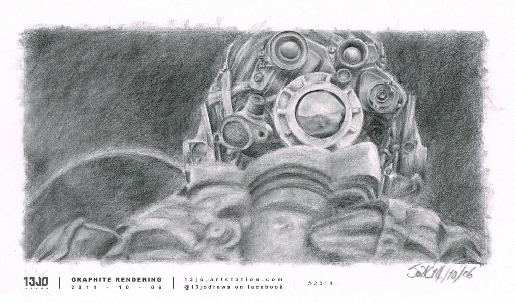 Screenshot study of a Scav from Oblivion.