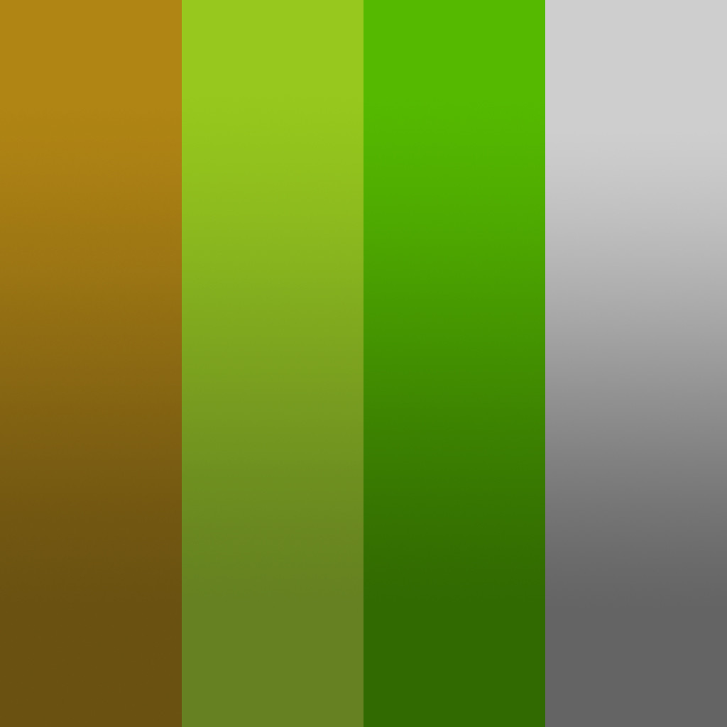 Gradient texture sheet used. Planar projection was applied to the assets to show color variation and fake shadows.
