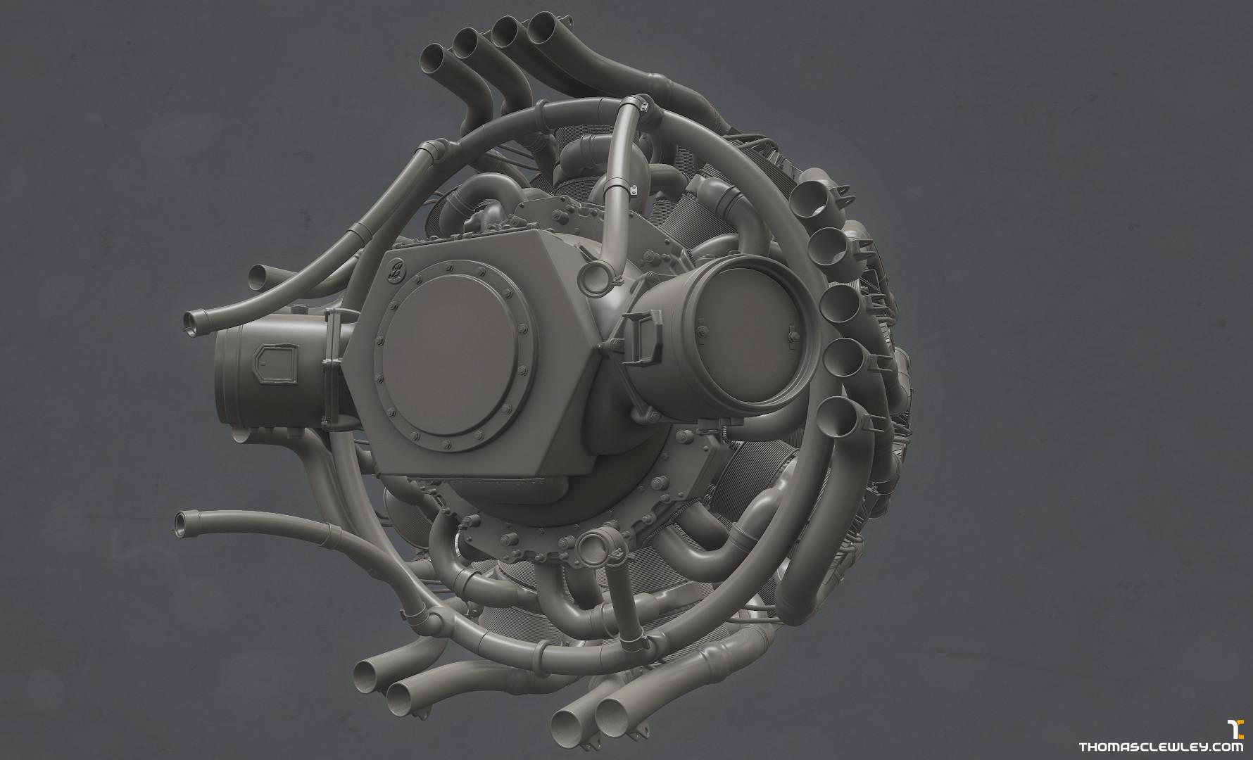 Thomas Clewley Bristol Centaurus Engine
