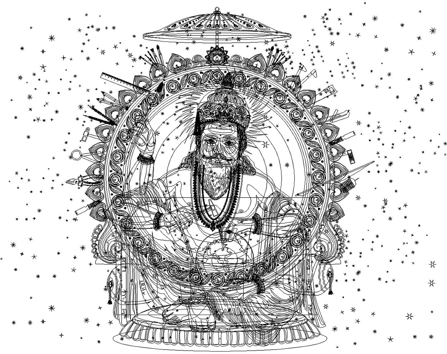 Rajesh sawant vishwakarma vector wireframe