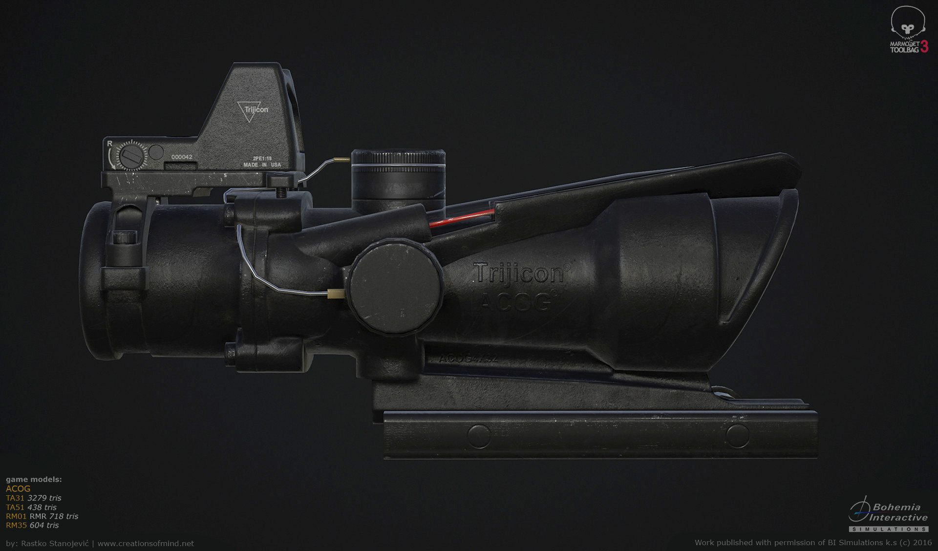 ArtStation - Trijicon Acog (game models), Rastko Stanojevic