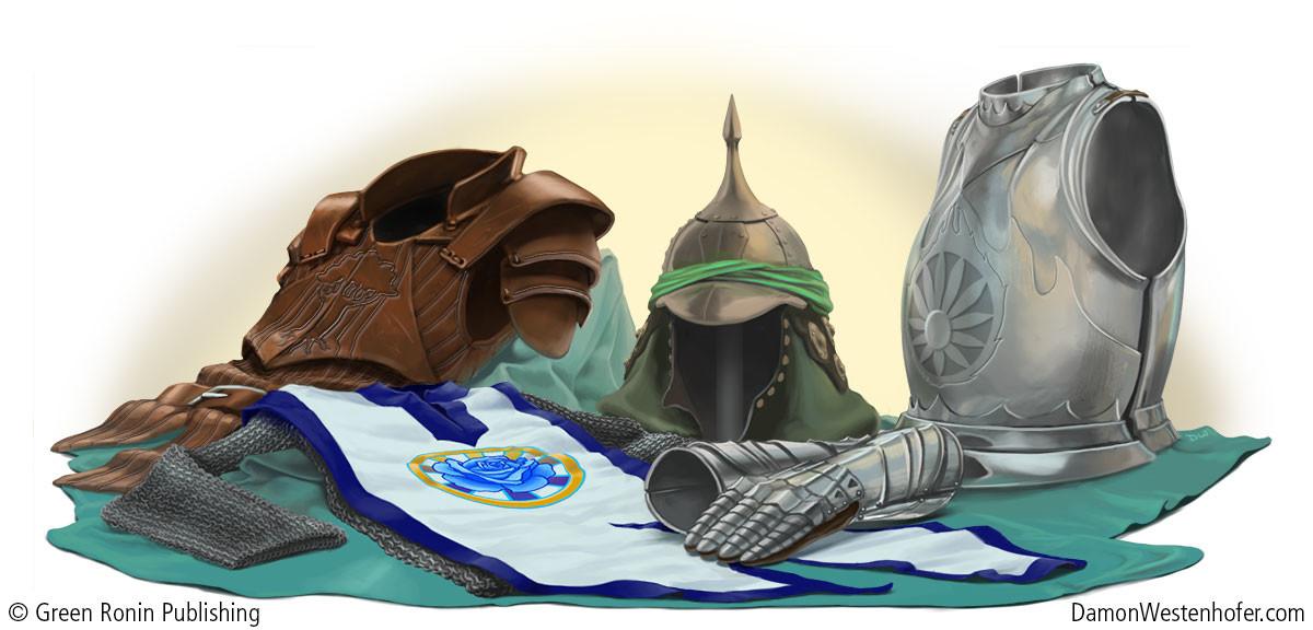 Damon westenhofer bluerose armorstilllife dw