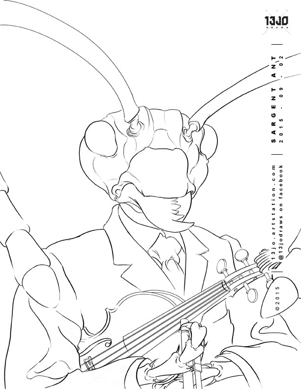 The finalized line art.