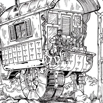 Gypsy Wagon, Inktober 2016 ,12